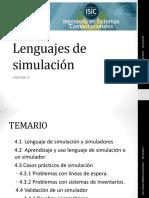 Lenguajes de Simulación