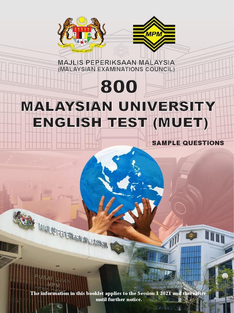 Malaysian University English Test Muet Majlis Peperiksaan Malaysia Pet Test Assessment