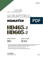 Shop Manual HD465-7 dan HD 605-7