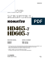 Shop Manual HD465-7 dan HD 605-7