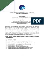 Pengumuman Seleksi CPNS Kominfo 2019