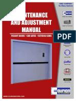 Parts Maintenance Adjustment Manual