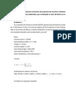 Ejercicios de Evaluación Económica de Proyectos de Inversión