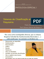 Psicopatologia - sistema classificatório - slides