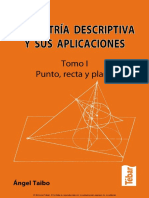 Ángel Taibo Fernández - Geometría Descriptiva y Sus Aplicaciones. Tomo I Punto, Recta y Plano-Tébar (2010)