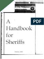 A Handbook for Sheriffs