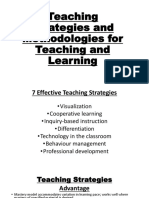 Teaching Strategies and Mythologies for Teaching and Learning