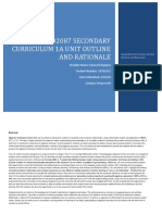 102087 secondary curriculum 1a unit outline and rationale