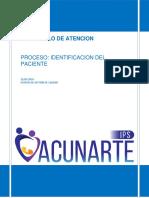 protocolo del paciente