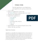 The Nursing Assessment of Thypoid Fever