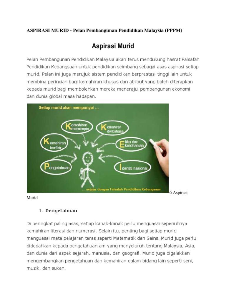 Aspirasi Murid Pelan Pembangunan Pendidikan Malaysia Pppm