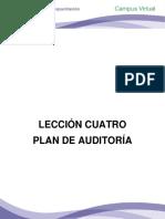 Lección Cuatro Plan de Auditoría