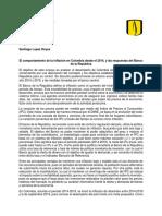Ensayo Inflacion Colombia 2014-2019