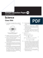Science Sample Paper 14 10th