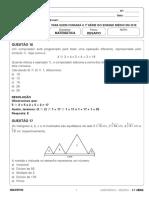 Resolução Desafio 1 serie EM Matemática 07