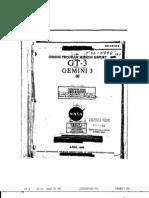 Gemini Program Mission Report GT-3 Gemini 3