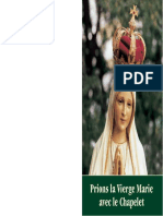 Prions La Vierge Marie Avec Le Chapelet