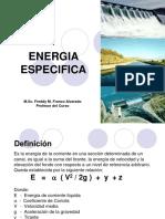 energía especifica-mecánica de fluidos II
