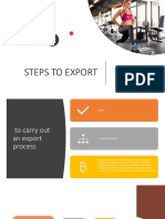 Steps to Export