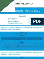 3DIV- Sanitasi Pelabuhan - Kel.5 - Peraturan Menteri Perhubungan
