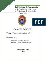 CAPITULO 30 CUESTIONARIO