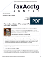 Preservation of Books of Accounts and Accounting Records in Philippines - Tax and Accounting Center, Inc