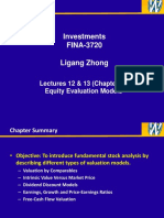 Lecture 12 & 13 - Equity Valuation