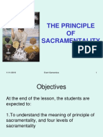 22. Sacramental Principle