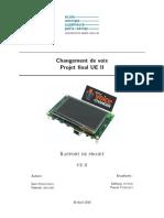 Projet expérimental - Création d'un dispositif de changement de voix