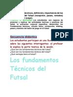 FUNDAMENTOS TECNICOS DEL FUTSAL