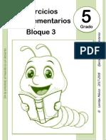 5to Grado - Bloque 3 - Ejercicios Complementarios