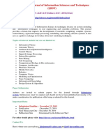 International Journal of Information Sciences and Techniques (IJIST)