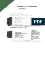 Materiales Utilizados en Las Instalaciones Eléctricas