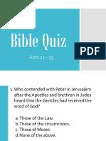 Bible Quiz 3 - Acts 11 - 15