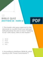 Bible Quiz 6