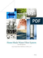 Home Made Water Filter System