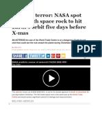 Asteroid terror: