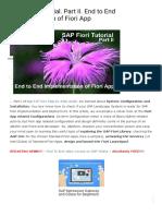 SAP Fiori Tutorial. Part II. End to End Implementation of Fiori App _.pdf