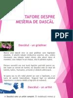 METAFORE DESPRE MESERIA DE DASCĂL.pptx
