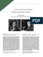 Las Raíces de La Carta de Venecia