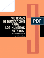Cuaderno 3 Sistemas de numeración para números enteros. National Council of Teachers of Mathematics U. S. A.
