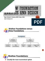 Shallow Foundation Analysis and Design 7