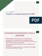 Microbiologia 3ª Aula - Cultivo e Crescimento de Microrganismos