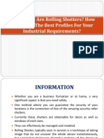 Get all information about the PVC Rolling Shutter