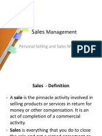 Sales management 2 chapters