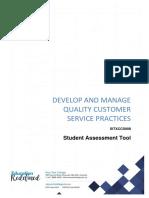 SITXCCS008 Student Assessment Tool