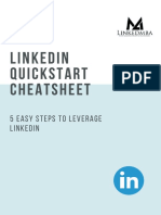 LinkedIn Quickstart Cheatsheet