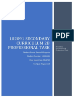 102091 secondary curriculum 2b professional task