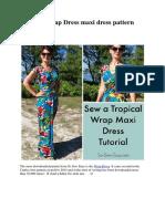 Tropical Wrap Dress Maxi Dress Pattern Hack