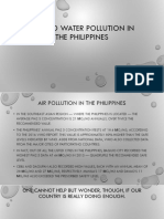 Air and Water Pollution in the Philippines